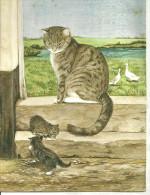 Mamma Gatta Che Guarda I Suoi Gattini, Mici, Cats - Gatti