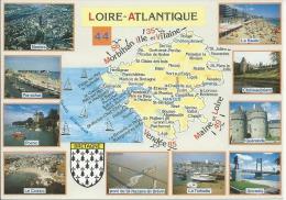 44 LOIRE- ATLANTIQUE...BLASON ET CARTE DU DEPARTEMENT....D5019 - France