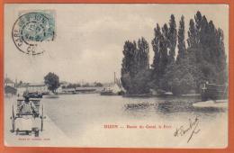 Carte Postale 21. Dijon Bassin Du Canal  Le Port   Trés  Beau Plan - Dijon