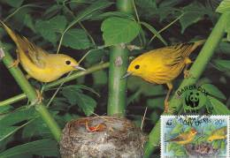 WWF - 107,32 - CM-MC - € 1,27 - 4-3-1991 - 20c - Yellow Warbler - Barbados 1110212 - Barbades (1966-...)