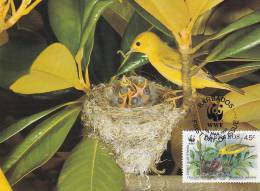 WWF - 107,33 - CM-MC - € 1,35 - 4-3-1991 - 45c - Yellow Warbler - Barbados 1110212 - Barbades (1966-...)