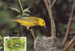 WWF - 107,34 - CM-MC - € 1,42 - 4-3-1991 - $1 - Yellow Warbler - Barbados 1110212 - Barbades (1966-...)
