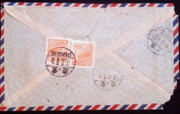 CHINA CHINE CINA 1952 SICHUAN CHONGQING TO SHANGHAI COVER  WITH STAMP 800c X2