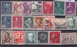 SUISSE, Lot De Timbres Oblitérés, Années 1940/43 ( 1601/113) - Zonder Classificatie