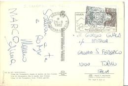 """Thematic Stamp """"Principat D'Andorra, Decenia Internacional De Aiguas Potables 1,60"""" Font Sant Julià - Andorre Français"""