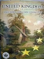 UNITED KINGDOM 2002 EURO PROTOTYPE COIN COLLECTION COFFRE - Essais Privés / Non-officiels