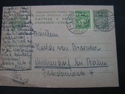 == Lettland Card 1933 - Lettland