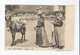 TYPES CORSES 29 BERGERES (MULET ET FEMMES (POTS SUR LA TETE) 1915 - France
