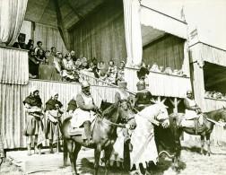 Ivanhoe Cinema Chevalerie Tournoi Chevaux Medieval Ancienne Photo De Film 1952 - Photographs