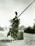 Ivanhoe Cinema Chevalerie Tournoi Chevaux Medieval Ancienne Photo De Film 1952