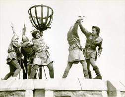 Ivanhoe Cinema Robert Taylor Combat Chevalerie Medieval Ancienne Photo De Film 1952