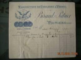 FAC  54  BIRAUD & PATRIER  COULEURS VERNIS  86 POITIERS - 1900 – 1949