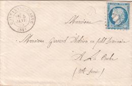 1875 LETTRE. N° 60.  HAUTE SAVOIE. CONTAMINE-S-ARVE. GC 1118. BOITE RURALE B.  POUR LA ROCHE  / 7543 - Marcofilia (sobres)