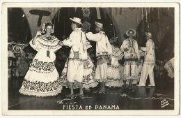 Real Photo Fiesta En Panama  Foto Flatau Used 2 Nice Stamps To Banes Cuba Airmail - Panama