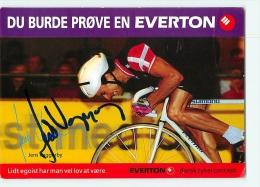 Jens VEGGERBY , Autographe Manuscrit, Dédicace. 2 Scans. Cyclisme. Everton - Cyclisme