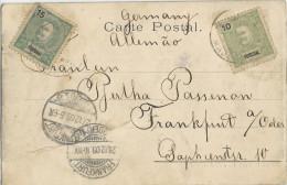 PORTUGAL - 1903 - FUNCHAL (MADERE) - CARTE POSTALE Pour FRANKFURT ODER (ALLEMAGNE) - Funchal