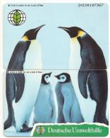 Germany - Deutsche Umwelthilfe - Penguins Puzzle Set - Series O 2280-2281 - 5.200ex, Used - O-Serie : Serie Clienti Esclusi Dal Servizio Delle Collezioni
