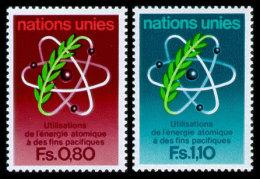 United Nations Geneva, 1977, 20th International Atomic Energy Agency, IAEA, Michel #70-71, Scott #71-72, MNH, Perfora... - Office De Genève
