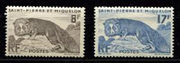 Saint Pierre Et Miquelon ** N° 345 / 346 - Renard Argenté - St.Pierre & Miquelon