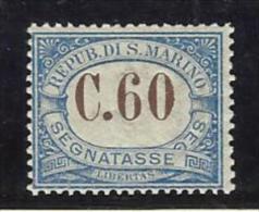1925 San Marino Saint Marin SEGNATASSE 60c MNH** POSTAGE DUE - Segnatasse