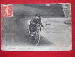 """LES SPORTS - MOTOS - Mme CLOUET SUR SA MOTO DE COURSE """" GEORGIA KNAP """"  1CH. 3/4. """" EDITION TRES RARE """" - - Motos"""