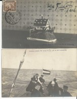EGYPTE - 1913 - 2 CARTES PHOTOS Du PHOTOGRAPHE WOLFMÜLLER (WOLFMILLER) Du SCHLESWIG - TOUTES VOYAGEES VERS L´ALLEMAGNE - Egipto