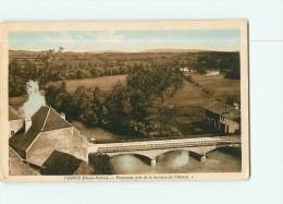 PESMES - Panorama Colorisé Pris De La Terrasse Du Château - 2 Scans - Pesmes