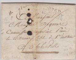 Lettre Du 14 Juillet 1810 De SAINT VALERY SUR SOMME. - Marcophilie (Lettres)
