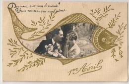 SUPERBE CARTE 1er AVRIL Avec Magnifique Photo D 'un Couple Amoureux. - 1er Avril - Poisson D'avril