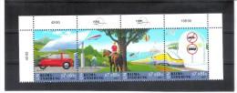 ESS1151 UNO WIEN 2001  MICHL 346/49 VIERERSTREIFEN ** Postfrisch Siehe ABBILDUNG - Wien - Internationales Zentrum