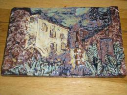 Relieve En Porcelana Pintada A Mano (Villarreal, Años 70) - Otros