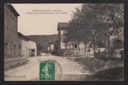 Carte Postale Anciènne 69 Montrottier Place De La Magdeleine Circulée 2 Scans - France