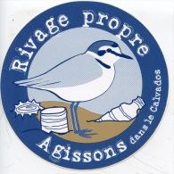 Agissons Dans Le Calvados - Rivage Propre (autocollant) Santé Environnement écologie - France