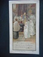 """IMAGE CONFIRMATION """"donnée Par Mg DUPARE Eglise De PONT L'ABBE - 1932 (parrain Dr JAOUEN Marraine Mme J. POULIGUEN"""" - Religión & Esoterismo"""
