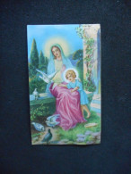 """Petite IMAGE Pieuse """"Marie Et Jésus Avec Des Colombes"""" - (Ed. SS 50 15) - Religion & Esotericism"""