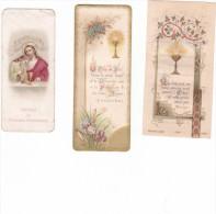25589- Lot Trois 3 Images Pieuses 1900 1899 1904 -saint Germain Auxerrois -fauchey Vallée Gousset -