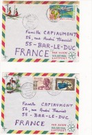 2 Enveloppes  Republique Du Congo  1967/68 - Congo - Brazzaville
