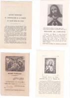 25591- Lot Huit 8 Images Pieuses -trois Ave Maria - Jesus Enfant - Diplome Admission Bonne-mart -priere Amende Honorable