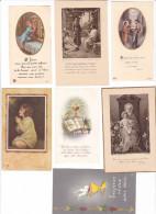 25592- Lot Sept 7 Images Pieuses -assez Récentes --vieux Doulon -ambrieres - Noces D'or D'enseignement - Images Religieuses