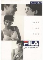 O2072 Cartolina Pubblicitaria - Fila Underwear - Ragazza Girl Femme Frau Chica Pin Up / Non Viaggiata - Advertising