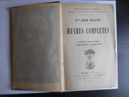 """""""Cte Léon Tolstoï - Oeuvres Complètes - L'enfance - L'adolescence"""" 1902 - Auteurs Classiques"""