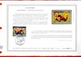 """MONACO 1980 : DAP 1er Jour Nté / Soie (2600 Ex.) """" LE FAUVISME : OEUVRE DE DERAIN """" N° YT 1244. Parf état. - FDC"""