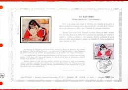 """MONACO 1980 : DAP 1er Jour Nté / Soie (2600 Ex.) """" LE FAUVISME : OEUVRE DE MATISSE """" N° YT 1243. Parf état. - FDC"""