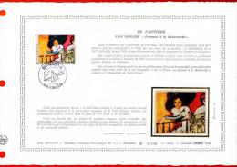 """MONACO 1980 : DAP 1er Jour Nté / Soie (2600 Ex.) """" LE FAUVISME : OEUVRE DE VAN DONGEN """" N° YT 1242. Parf état. - FDC"""