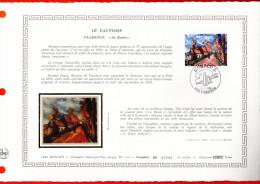 """MONACO 1980 : DAP 1er Jour Nté / Soie (2600 Ex.) """" LE FAUVISME : OEUVRE DE VLAMINCK """" N° YT 1241. Parf état. - FDC"""