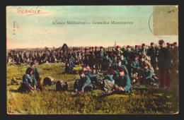 France Grandes Manoeuvres Military Vintage Original Ca1900 POSTCARD CPA AK (W4_2144) - Manovre