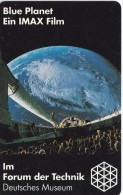 TARJETA DE ALEMANIA DE IMAX EL PLANETA AZUL DE TIRADA 6100 (TIERRA-GLOBO TERRAQUEO) - Astronomy