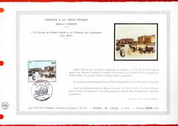 """MONACO 1982 : DAP 1er Jour Nté / Soie (2600 Ex.) """" MONACO A LA BELLE EPOQUE """" N° YT 1340. Parfait état. - FDC"""