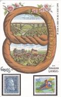 TARJETA DE ALEMANIA CON UNOS SELLOS DE TIRADA 4000 (SELLO-STAMP) TREN-TRAIN-ZUG - Sellos & Monedas