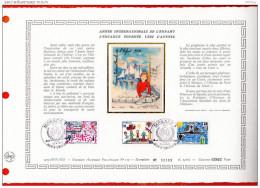 """MONACO 1979 : DAP 1er Jour Nté / Soie (tir : 2300 Ex) """" ANNEE INTERNATIONALE DE L´ENFANT """" N° YT 1183 à 1185. Parf état."""